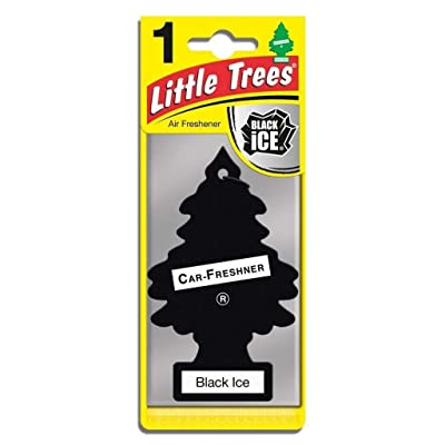 Little Trees Hanging Car and Home Air Freshener, Black Ice (Pack of 3): Automotive