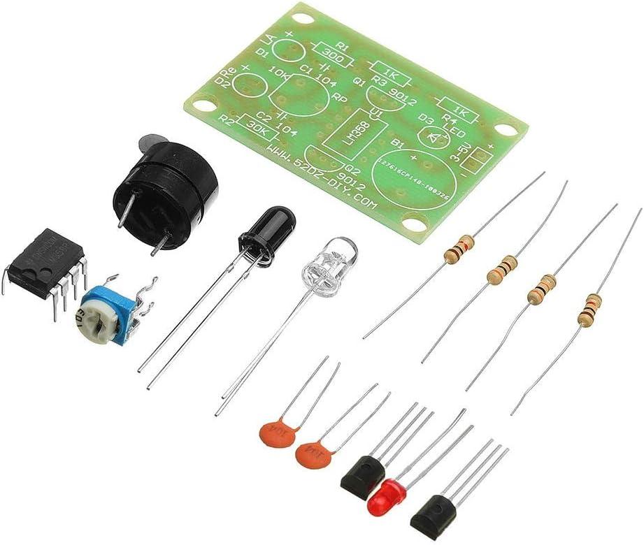 Sensor Anti-Theft Alarm Switch Kit DIY Sound Light Infrared Components