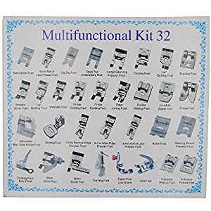 Aiskaer Professional 48pcs Sewing Machine Presser Feet Set for Brother, Babylock, Singer, Janome, Elna, Toyota, Home, Simplicity, Kenmore, from Aiskaer