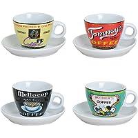 Conjunto de 4 tazas con diseños variados