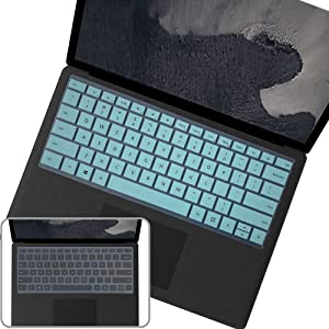 """2Pcs Keyboard Cover Skin for 2020 2019 2018 Surface Book 3/2/1 13.5"""" 15"""" and 2019 2018 Surface Laptop 2 13.5"""" 15"""" US Layout Keyboard Cover Accessories"""