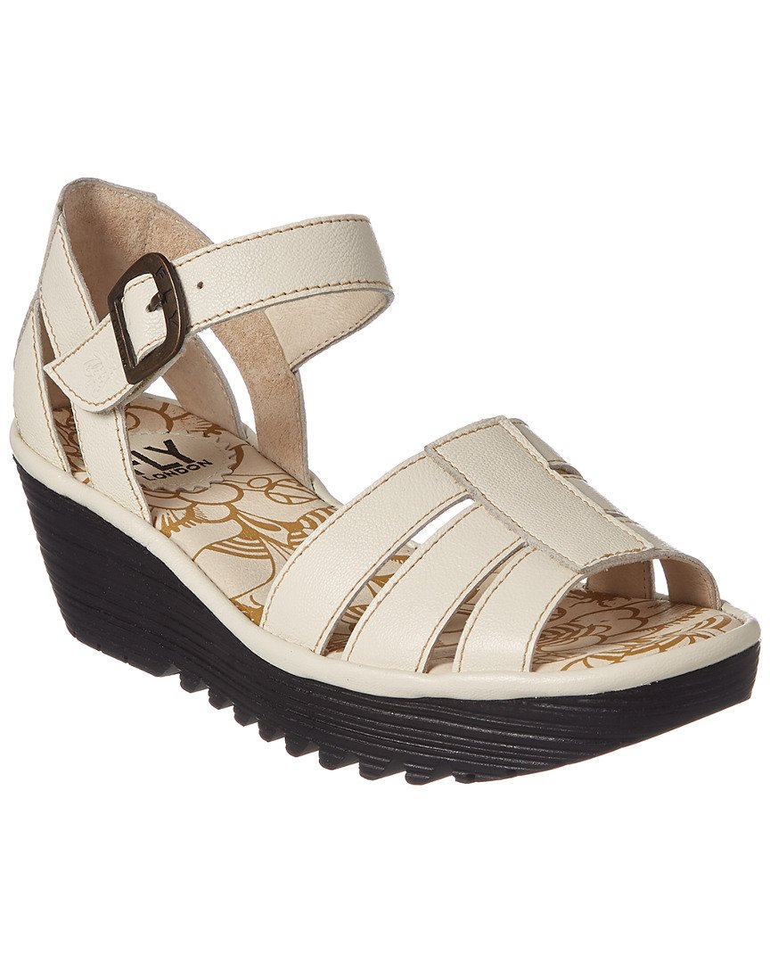 FLY London Women's Rese730fly Flat Sandal, Off White Mousse, 39 EU/8-8.5 M US