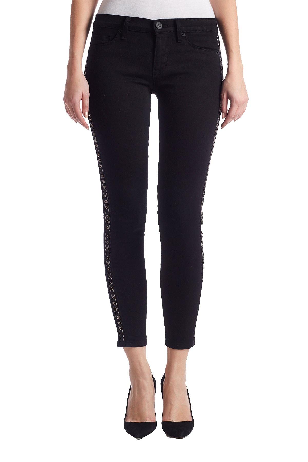 Hudson Women's Luna Super Skinny Ankle Jeans (27, Black)