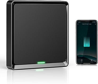 Neutral Requerido Etersky Interruptor Inteligente Compatible con Alexa y Google Home Smart Home Interruptor Tactil con Temporizador Interruptor Pared Luz Control APP Wifi Interruptor Alexa 1 Gang