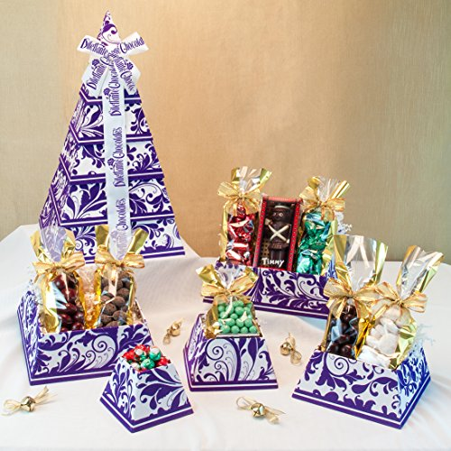 Chocolate Usa Gift Tower - Royal Velvet Chocolate Gift Tower - Deluxe Assortment