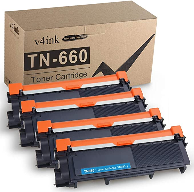 Amazon.com: V4INK Compatible Toner Cartridge Replacement for Brother TN630 TN660 TN-660 (Black, 4-Pack) for use in Brother HL-L2300D HL-L2320D HL-L2340DW HL-L2360DW HL-L2380DW MFC-L2720DW MFC-L2740DW DCP-L2540DW: Office Products