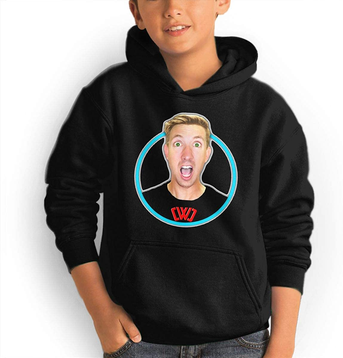 Fashion Boy and Girl Custom Hoodie Chad Wild Clay Youth Casual Sweater Black