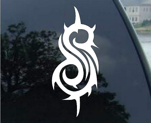 Yilooom Slipknot Band Logo Decal Car Die Cut Vinyl Car Decal Sticker Bumper Window Sticker 2 Pack 6 Inches At Longest End Auto