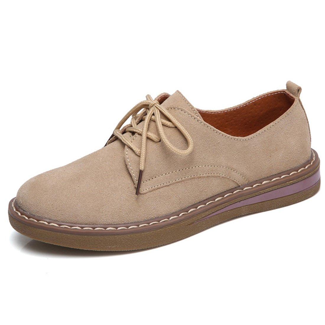 Zhuomei Lacets Chaussures de Ville à Lacets pour à Femme pour Marron b240bef - shopssong.space
