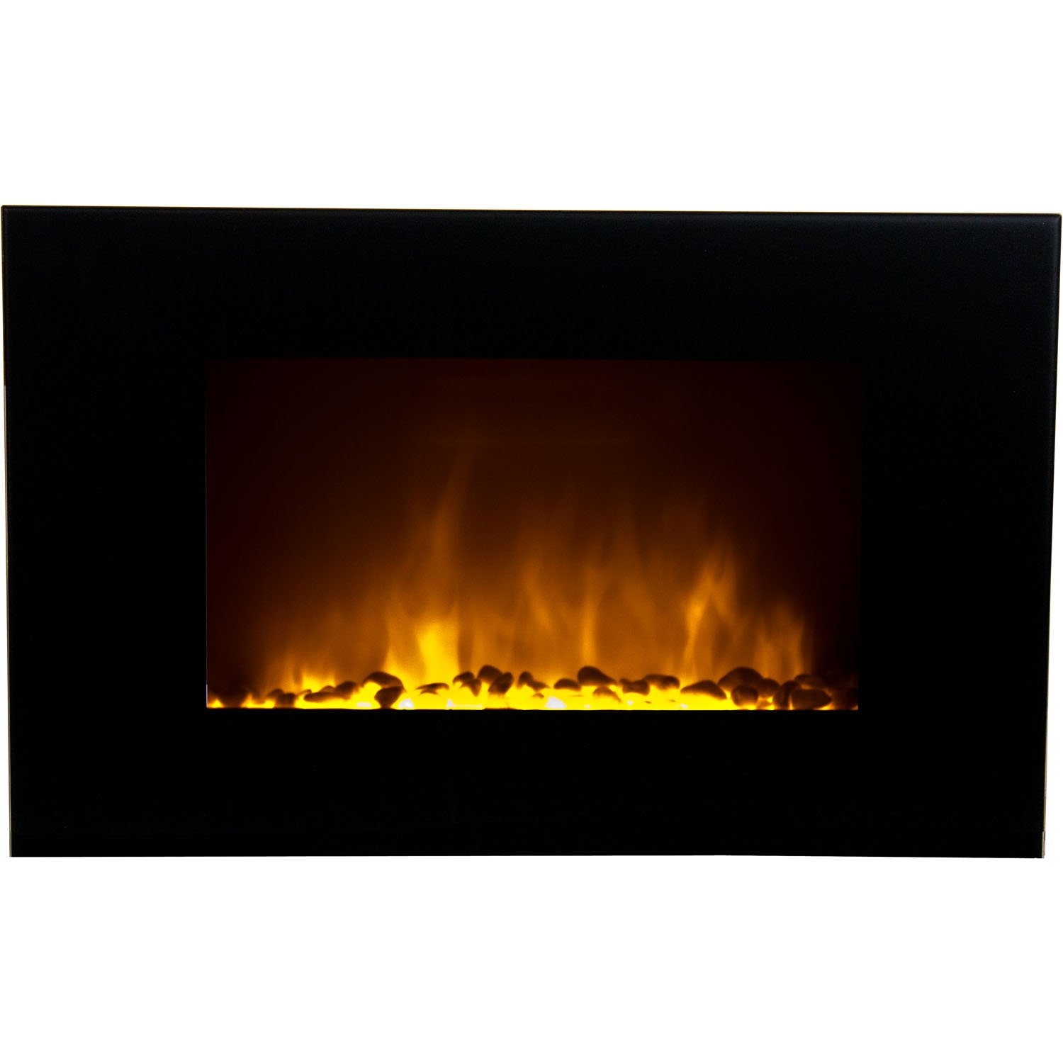 Flame Effect Electric Fires Part - 28: Amazon.com: Warm House OWF-10303 Oslo Wall-Mounted LED Fireplace With  Color-Changing Flame Effect: Home U0026 Kitchen