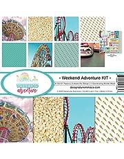 Reminisce Weekend Adventure Scrapbook Collection Kit Paper Crafts, Multi Color Palette
