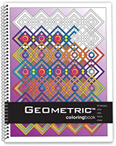 Action Publishing Coloring Book: Geometric · Meditative Patterns and Designs for Stress Relief, Relaxation and Creativity · Large Sidebound (8.5 x 11 inches)