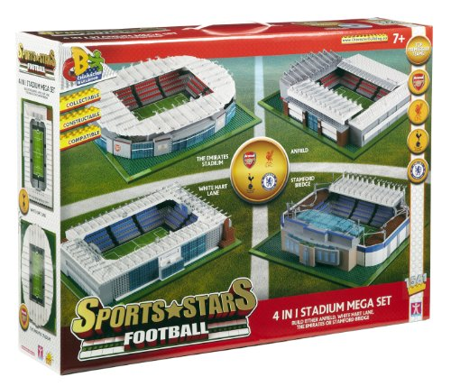 Character Building Sports Stars Football 4 In 1 Stadium Mega Set