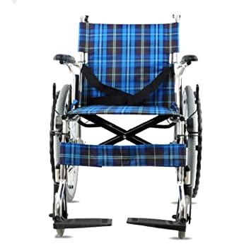 Shisky Silla de Ruedas Plegable Paso portátiles vejez con discapacidad Silla de Ruedas Aluminio de Espesor aleación sillón de Ruedas Manual: Amazon.es: ...