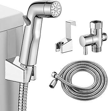 Hand Held Bidet Toilet Sprayer 360 Dual Pressure Control Bum Gun Attachment Kit