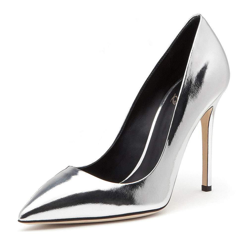 ¥schuhe Stiletto Super High Heel flachen Mund Spitzen Lackleder einzelne Schuhe Damenschuhe