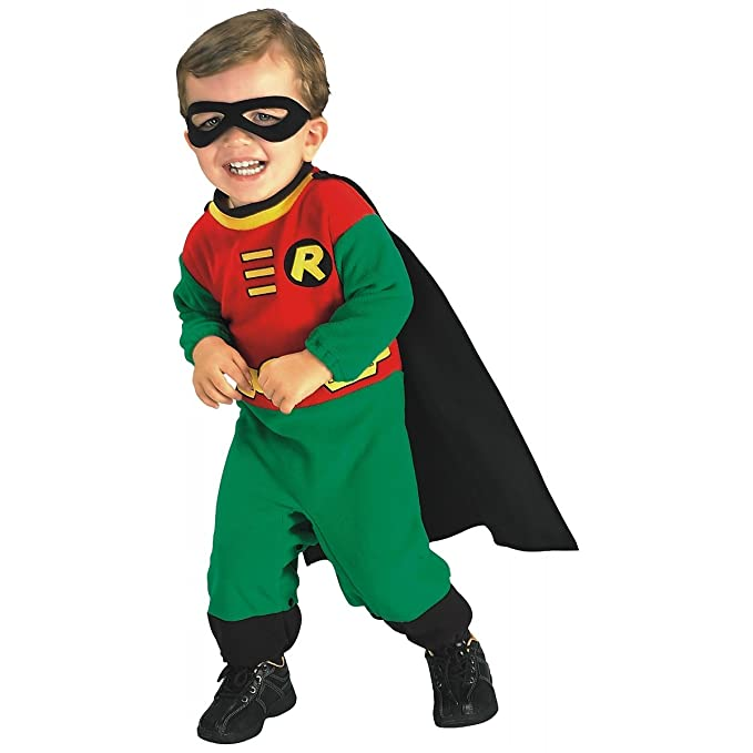 Amazoncom Rubies Costume Co Baby Boys Teen Titans Robin Romper