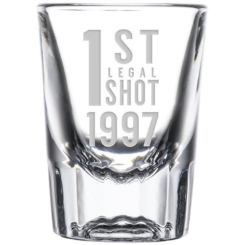 1st Legal Shot Glass 1997