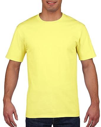 d83e27be2b35be Gildan 4100 Mens Short Sleeve Premium Cotton Ring Spun T-Shirt Tee -  Cornsilk -