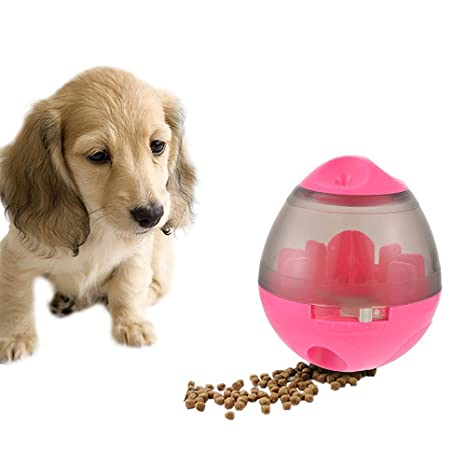 laamei Comedero de Comida para Perro Juguetes Interactivos Bola Dispensadora Alimentador de Comida para Mascotas Perros
