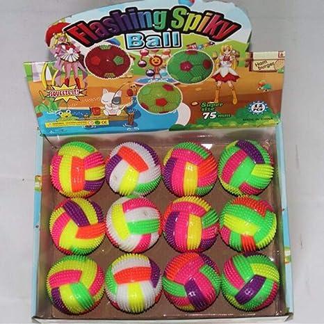 fgghfgrtgtg LED de Punta de Bola antiestr/és hinchables de Juguete Balones Hombres Mujeres Adolescentes Ni/ños Fidget Juguetes del Alivio de tensi/ón