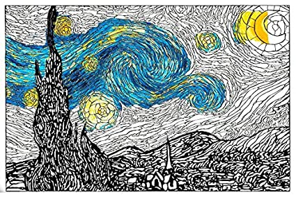 amazon com personal prints van gogh starry night premium giant wall