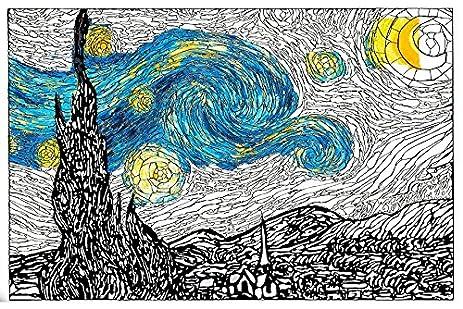 Amazon.com: Van Gogh Starry Night Premium Giant Wall Size Adult ...