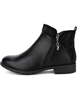 Chaussures Matière Bottine Slowy Noire Femme Cendriyon Amazon Bi T8IXqtdwWw
