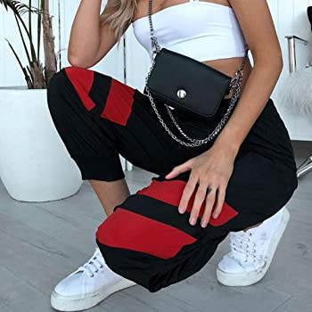 Sylar Pantalones Casual para Mujer Elegantes Moda Rayas De Costura ...