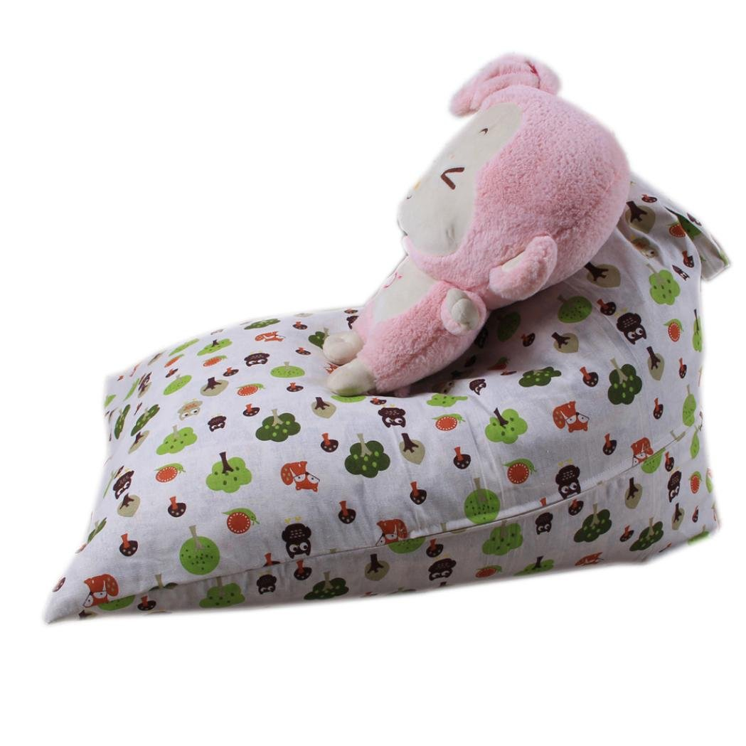 GBSELL Kids Stuffed Animal Plush Toy Storage Bag Soft Pouch Stripe Fabric Chair (C)