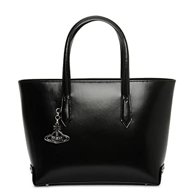 3a70babf7b Vivienne Westwood Sarah Medium Leather Shopper Bag In Black: Amazon.co.uk:  Clothing