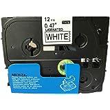 Neouza Lot de cartouches compatibles pour Brother P-Touch, Tze Tz Label laminé 12mm TZe-231 Black on White