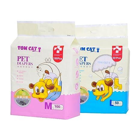 Perro almohadilla engrosada 100 tabletas Desodorización Pañales para gatos Pañales absorbentes para pañales Suministros para mascotas