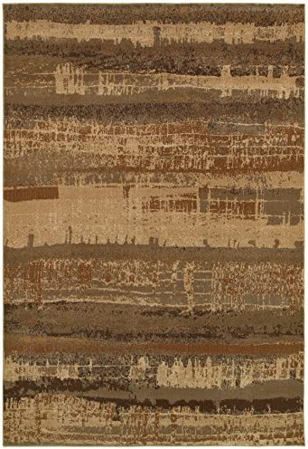 Rizzy Home Bellevue Collection Polypropylene Area Rug, Tan Gray Graphic
