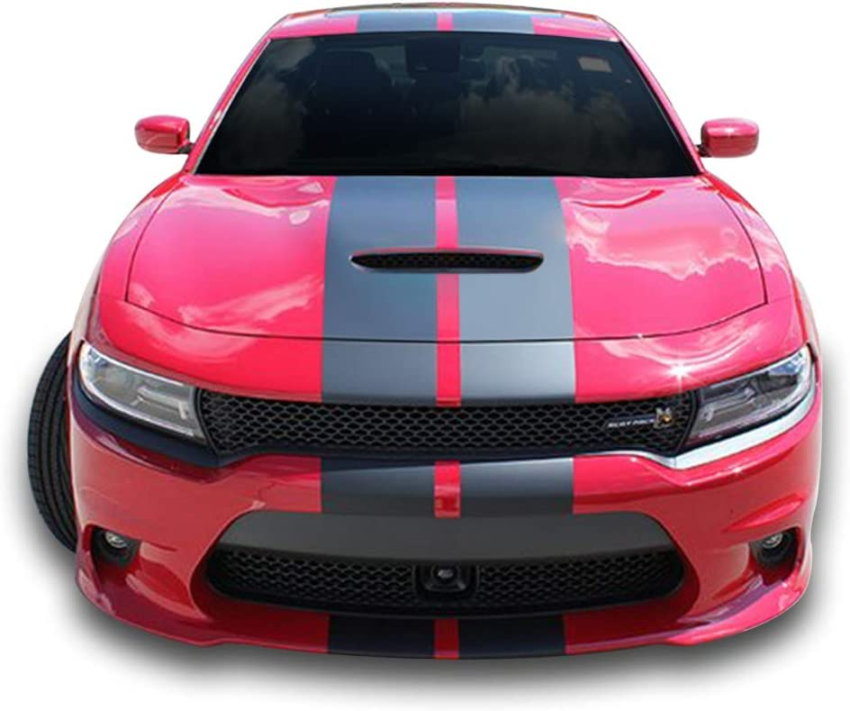 Bubbles Designs Decal Graphic Sticker Stripe Body Kit Compatible with Dodge Charger 2011 2012 2013 2014 2015-2020