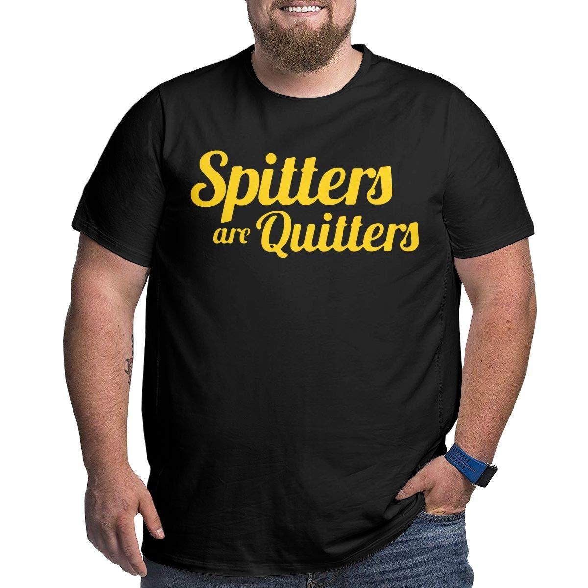 Big & Tall Kurzarm Herren Spitters sind Quitters Herren Plus Size Loose O-Neck T-Shirt