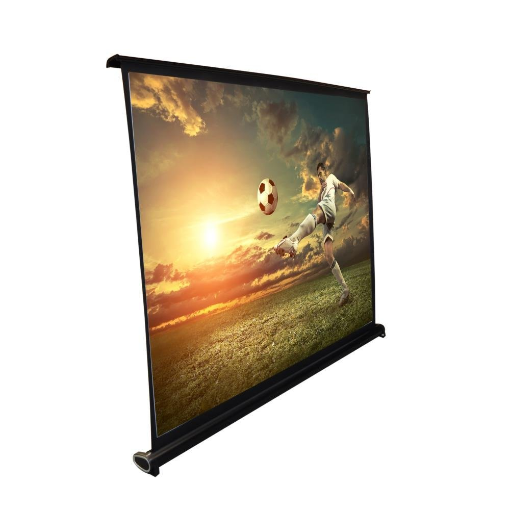 Pyle 50'' Projector Screen with Floor Standing Portable Fold-Out Roll-Up Tripod Manual, Mobile Movie Screen, Home Theater Cinema Wedding Party Office Presentation, Quick Assembly (PRJTP53)