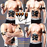 Abdominal Muscle Toner,EMS ABS trainer body slim belt,Unisex Fitness Training Gear,Wireless Muscle Exercise stimulation equipment for Abdomen/Arm/Leg,Men & Women Home Office Workout Equipment(Yellow)