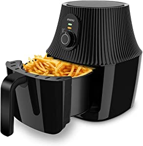 imarku Air Fryer, 2.6QT Electric Hot Air Fryers Fast Oven Cooker with Timer Knob for Air Frying, Roasting and Reheating, Nonstick Basket, No Plastic Smell, 1000W