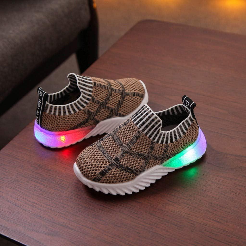 Chaussures de Sport Enfants Manadlian Basket LED B/éb/é Fille Gar/çon Casual 2019 Nouveau Baskets Basses Lumineux Chaussures Motif /à Rayures /étoiles Sneaker Running Mixte B/éb/é