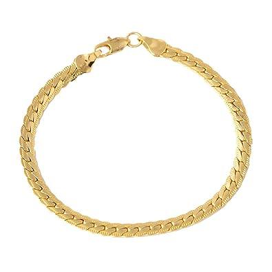 bad0aa17089b7 Amazon.com: DaoAG-Accessories Gold Charm Bracelets for Men Punk Hip ...