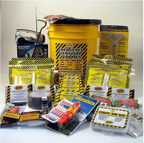 Emergency Survival Kit Bucket - Deluxe - 2 Person