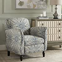 Escher Accent Chair Blue Multi/Brown See below