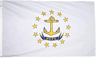 product image for Annin Flagmakers Model 144760 Rhode Island State Flag 3x5 ft. Nylon SolarGuard Nyl-Glo 100% Made in USA to Official State Design Specifications.