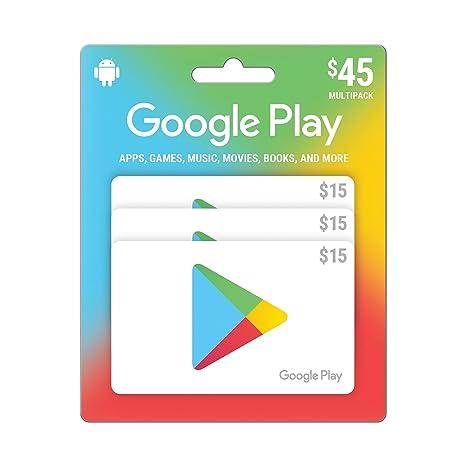 Google jugar tarjeta de regalo de $45 Prepago - 3 x $15 ...