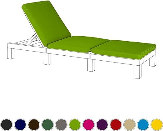 Verde lima Cojín de asiento de repuesto para Keter Allibert Daytona exterior tumbona: Amazon.es: Jardín