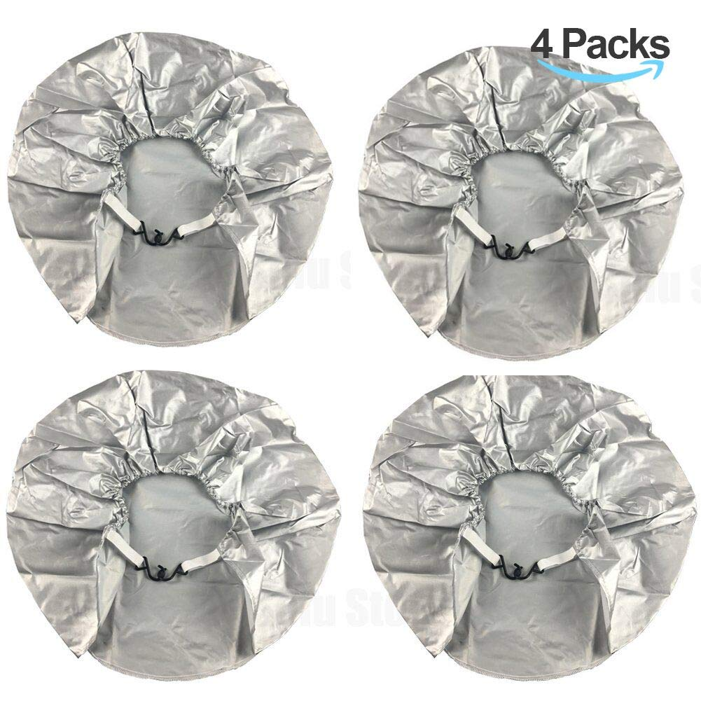 Tire Covers for RV Wheel 30 inch Set of 4 Waterproof Oxford Tires Protector Covers for Motorhome Truck Trailer Camper Auto (30'' for Tire Diameter 76cm, Tire Width 30cm