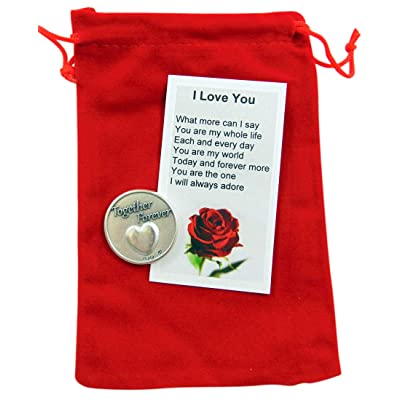 Westmon Works Valentines Day Token Gift Set with I Love You Poem Card and Gift Bag: Jewelry