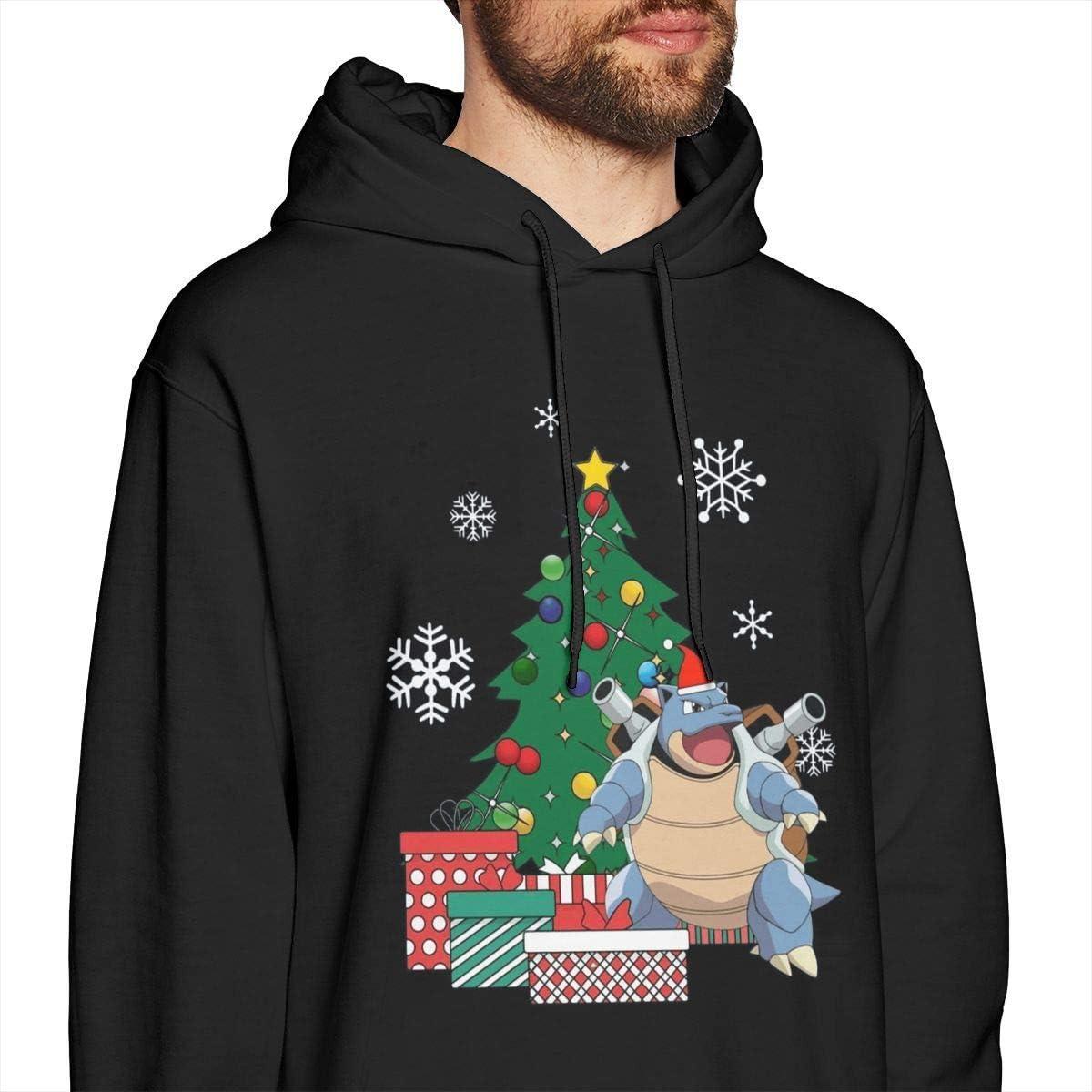 Dragon Ball Z Weihnachtskranz Muster Herren Pullover Hoodies Rundhals-Sweatshirt mit Rundhalsausschnitt Schwarz Xxx-large|style5