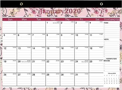 Calendario 2019 - Calendario 2018 2019 Pared 2018-2019 Family Calendar Desk Calendar Planificador Mensual: Amazon.es: Oficina y papelería